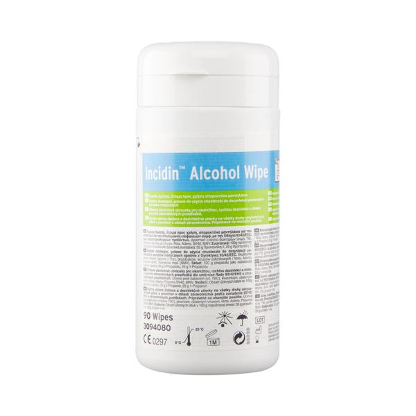 Incidin ALCOHOL WIPE Chusteczki Do Dezynfekcji Powierzchni - 90szt