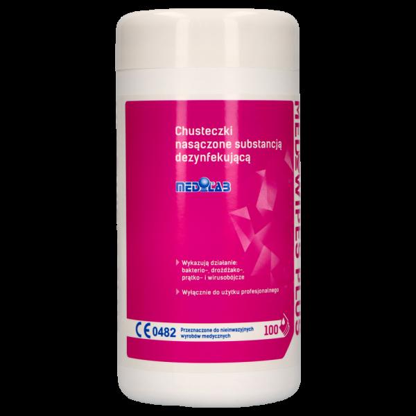 MEDIWIPES PLUS Tuba chusteczki alkoholowe do dezynfekcji Medilab