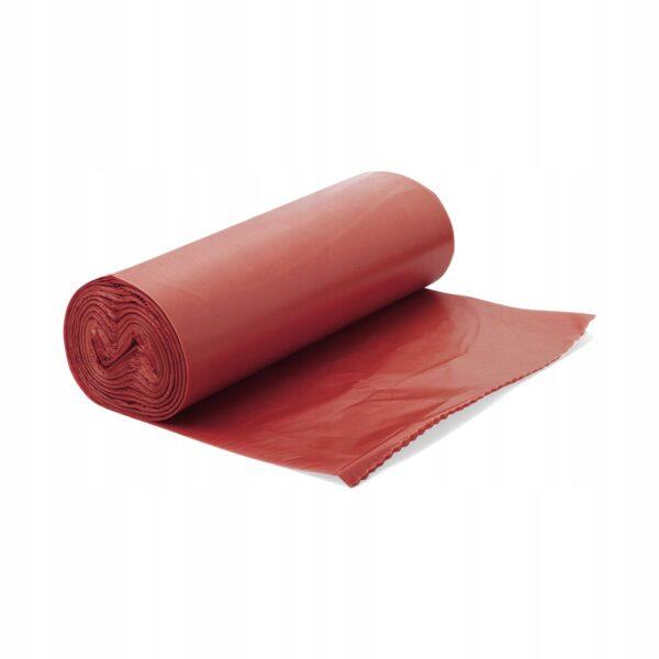 Worki Na Śmieci LDPE Czerwone 35L